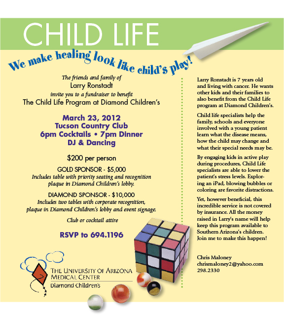 'Child Life Event' to Raise Funds for 'Child Life Specialist Program' at  Diamond Children's