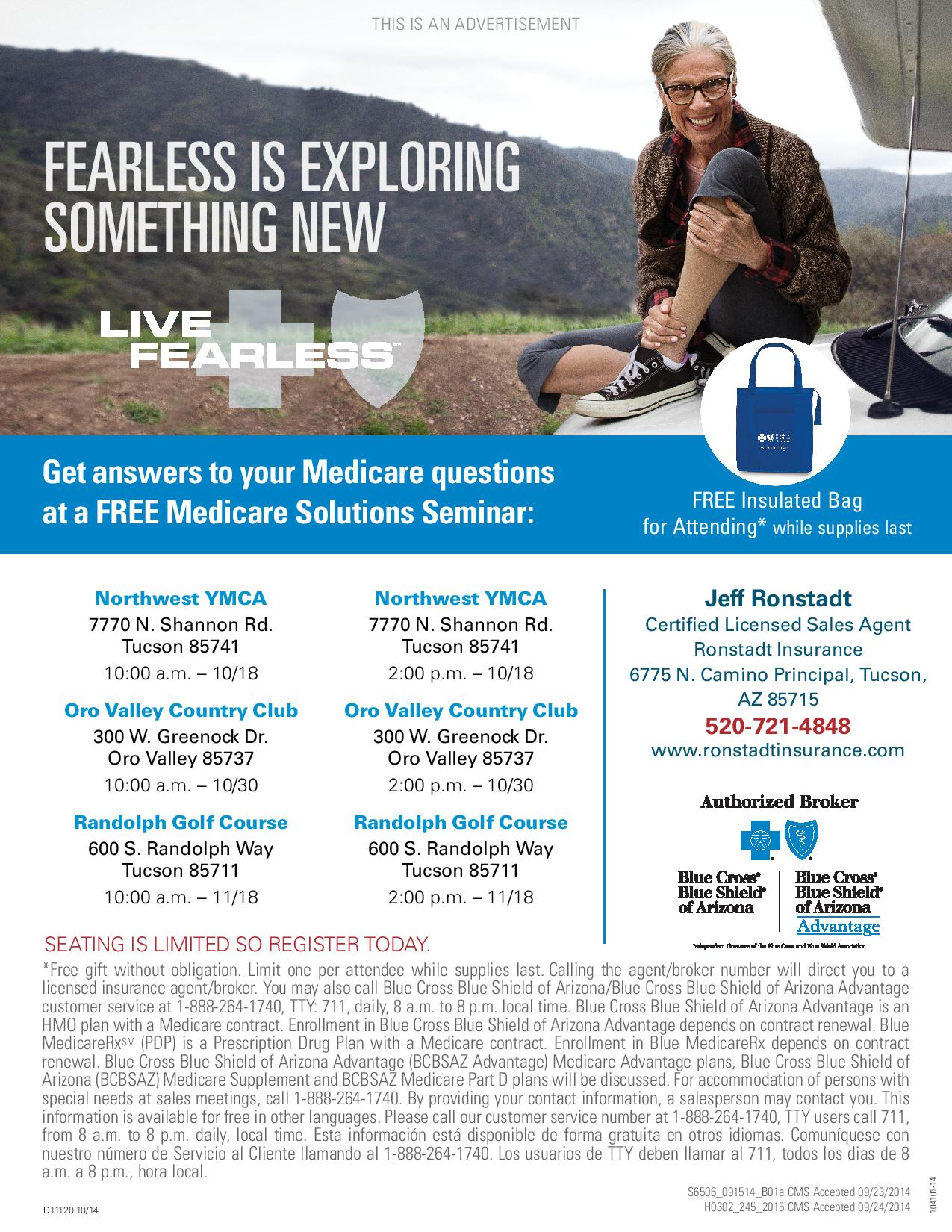 2015 Medicare Solutions Seminars Blue Cross Blue Shield of Arizona